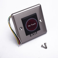 DC 12V Silver Color No Touch Door Button Infrared Sensor Switch With Light