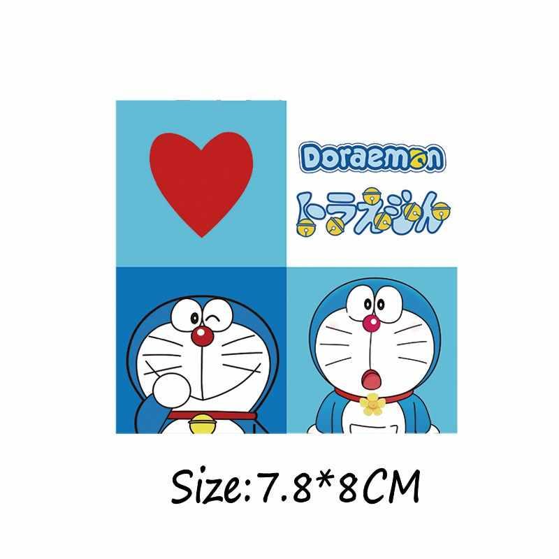 Ícones de Ferro em Transferência De Calor Desenho Animado Anime Japonês Doraemon Patches para Vestuário Bert Enfeites Listras adesivos diy acessórios