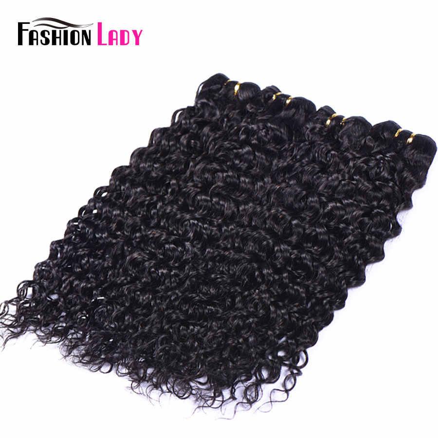 Fashion Lady Pre-Gekleurde Braziliaanse Haar Weave Bundels 1b Menselijk Haar Weave Water Wave Bundels 1/3/ 4 bundel Per Pack Non-remy