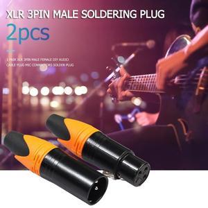 Image 5 - 1 paar XLR 3Pin Männlich weibliche DIY Audio Kabel Stecker Mic Anschlüsse Solder Stecker