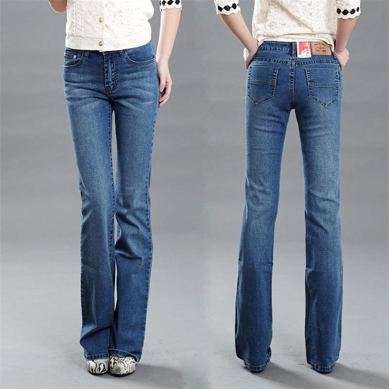 Women's slim Cut jeans Girls bell bottom trousers flares
