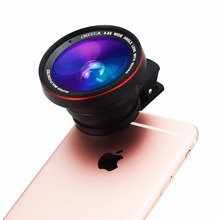 OKEECA Camera Lens Kit 3 in 1 Universal Clip-on Lens 37MM 0.6X Wide Angle Lens + ND2-400 Filter + Macro Lens for iPhone Xiaomi