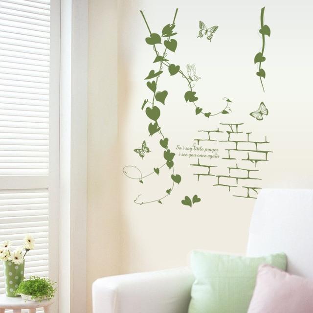 € 6.77 |Amovible Fenêtre Fleur Rotin Mur Autocollant Étanche Vert Usine  Déco Stickers pour Salon Canapé Fond Décoration dans Stickers muraux de  Maison ...