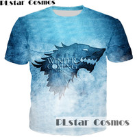 PLstar Cosmos Game Of Thrones Printed 3D Men T Shirt Casual Men Tshirt Tops House Stark