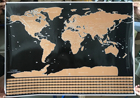 1 pcs New arrival Deluxe Scratch off Map Personalized World Flag Scratch Map Scratch Off for travel