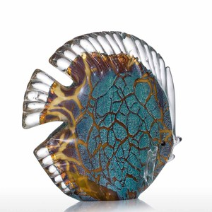 Image 5 - Tooarts Colorful Spotted Tropical Fish Glass Sculpture Fish Sculpture Modern Art Favor Gift Artwork Home Decoration