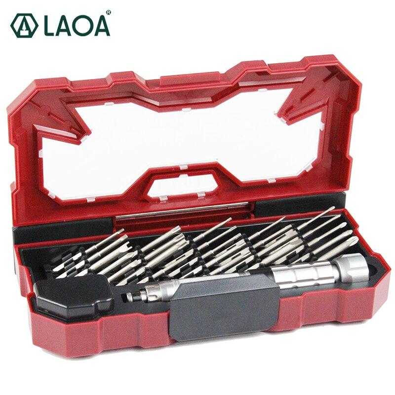 LAOA ensemble de tournevis de précision 25 en 1 outil à main multifonction pour réparer téléphone portable, ordinateur et lunettes