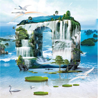 Beibehang Custom Wallpapers Zero Distance Contact Landscape Waterfall TV Background Living Room Decoration Painting