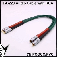 OEM ODM FA 220 PVC case PCOCC Double RCA Audio Cable