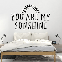 Modern sunshine quotes Vinyl Decals Wall Stickers For Living Room Kids Pvc Bedroom