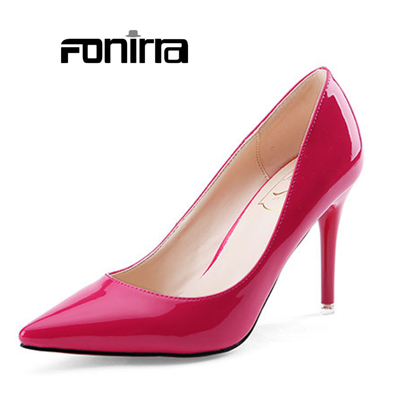 Women High Heel Shoes 2015 Fashion Pointed Toe Sexy High Heels ...