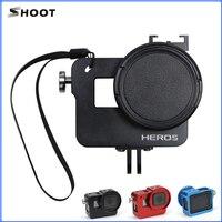 Yeni ATEŞ Alüminyum Rig için 52mm UV filtre ile Konut Case Çerçeve GoPro Hero 5 mavi, kırmızı, siyah Git yanlısı 5 Aksesuarları