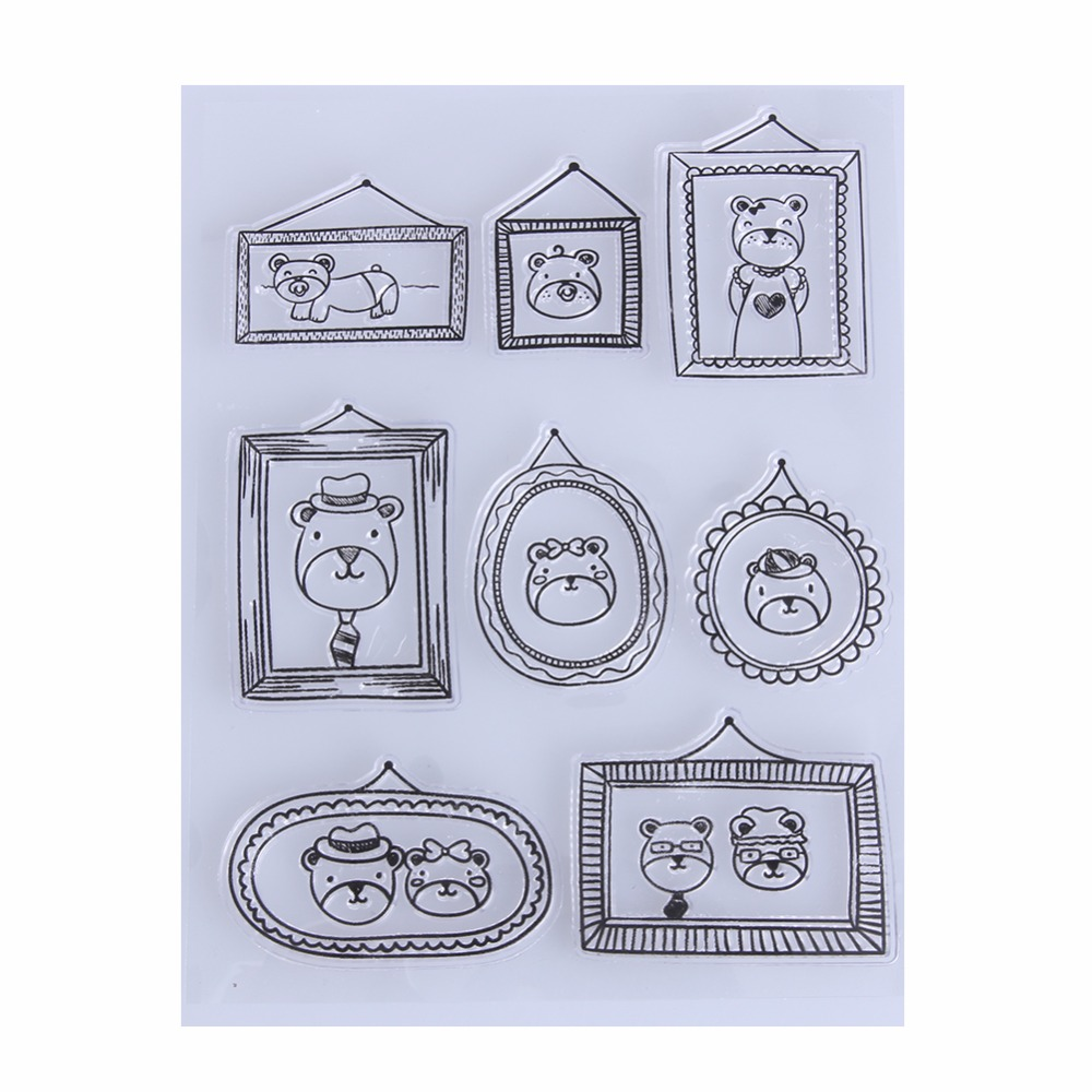Fashion Transparent Clear Stamps for Scrapbooking DIY Silicone Stamp Seals Scrapbook Card Photo Album Making Stamping Supplies lovely animals and ballon design transparent clear silicone stamp for diy scrapbooking photo album clear stamp cl 278