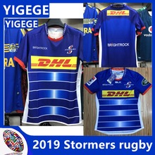 1fffa627c31 YIGEGE 2018/19 MEN'S super leauge rugby jerseys home team Stormers blue  size S-3XL