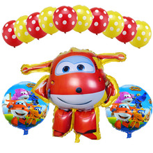 13 Pcs/lot Super Wings Jett Balloon Foil toys Birthday Party Helium Balloons Decorations kids globos supplies