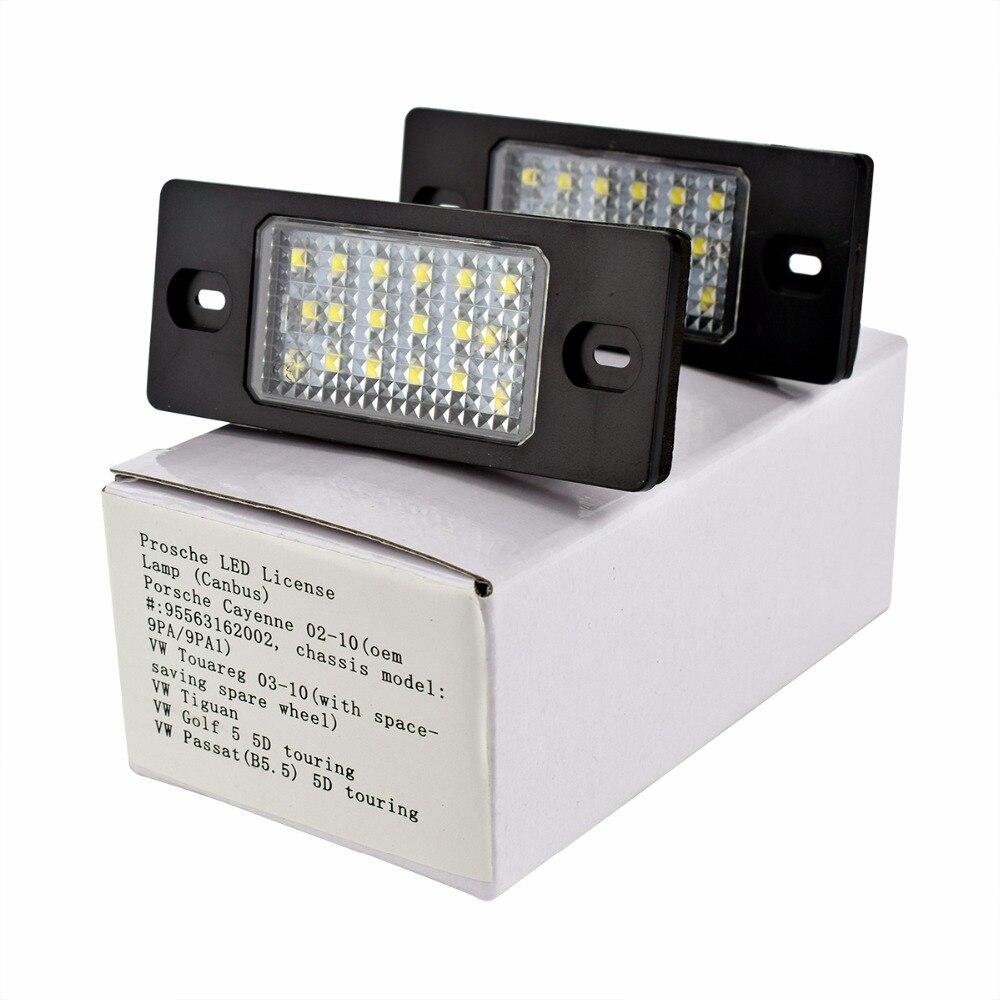 LED Number License Plate Light font b Lamp b font for VW Bora Golf 4 Variant