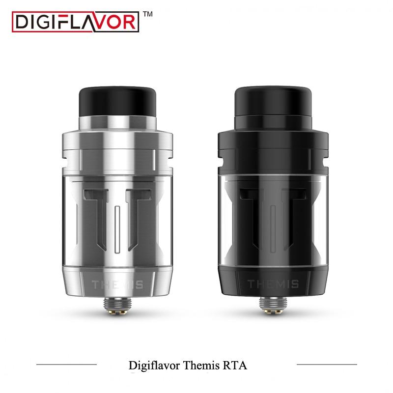 цена на Original Digiflavor Themis RTA Dual/Single Coil Builds top airflow Leak-proof Electronic Cigarette Atomizer VS Geekvape zeus RTA