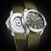 OCHSTIN Mann Mechanische Pilot Handgelenk Uhren Für Männer Luxus Casual Self Winding Leder Mechaniker Männlichen Uhr Datum relogio masculino