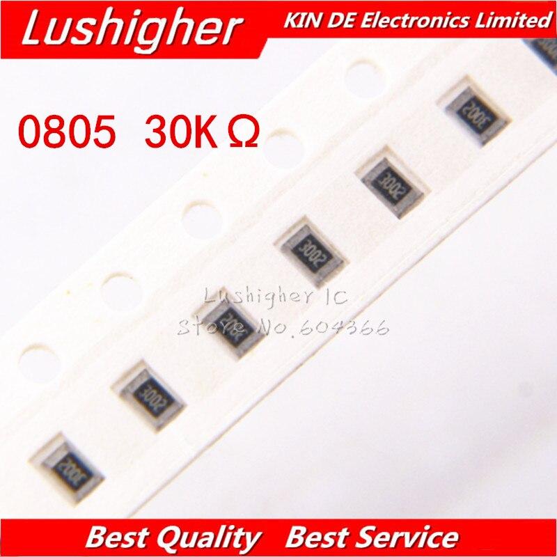 100 шт. 0805 SMD резистор 5% 30K Ом 3002 303 30 кОм