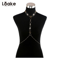 Loake Necklace Europe And The United States New Sexy Rose Hollow Fashion Body Chain