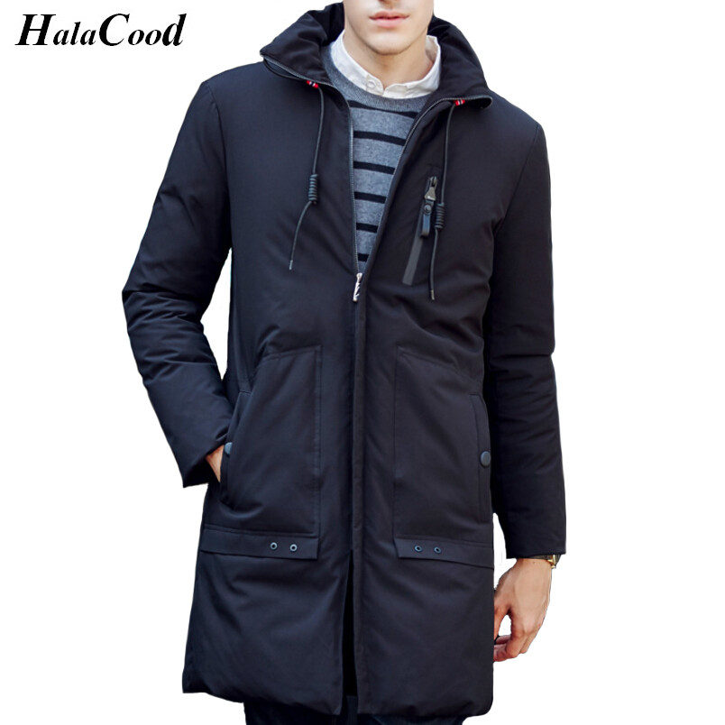 High Qualit Men Parkas Winter Down Coat 90% White Duck Down Jacket Brand Men Hooded Outerwear Coat Large Size Thick Warm Jacket