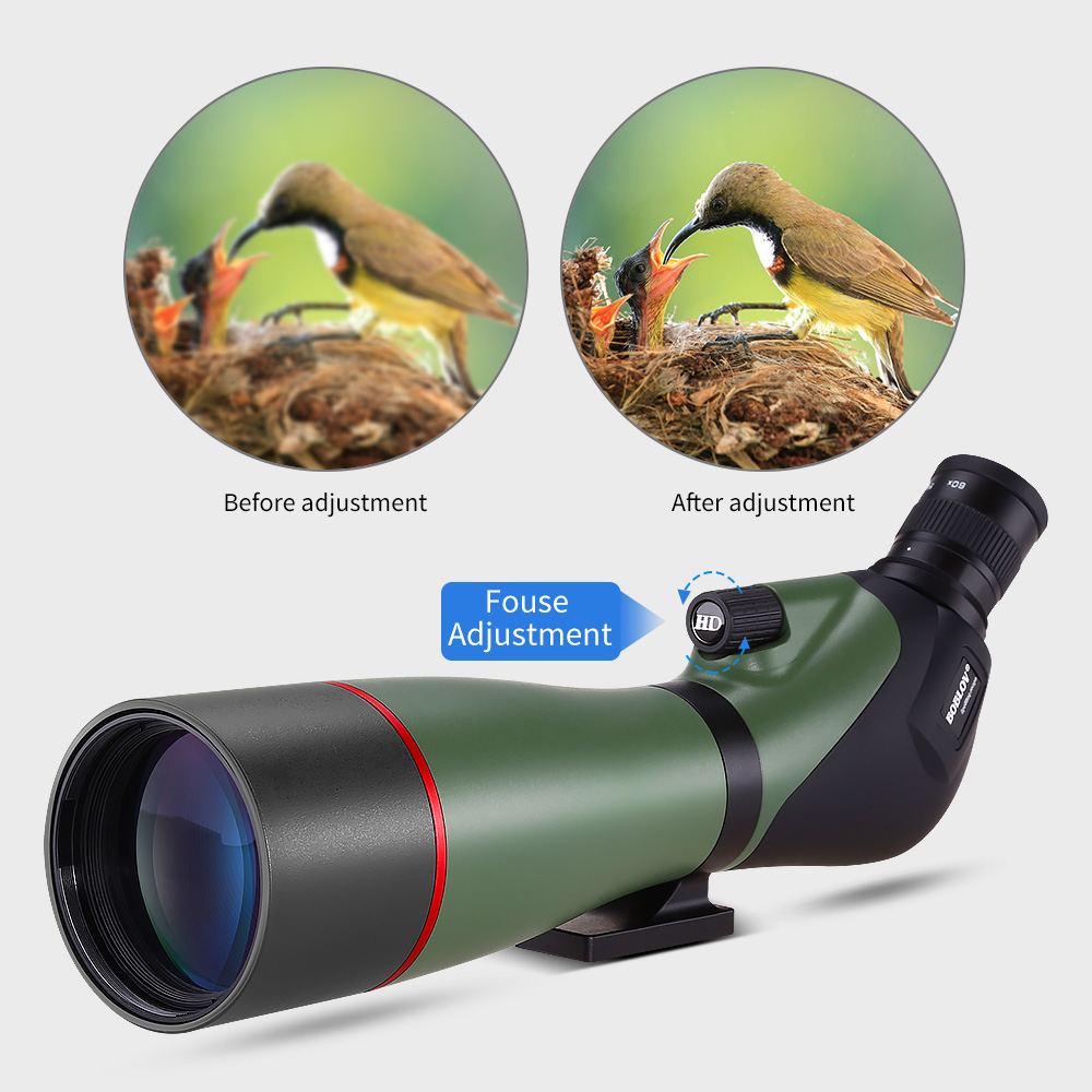 Image 4 - BOBLOV 20 60X80 Spotting Scope Waterproof Scope for Bird Watching Target Shooting Archery Range Outdoor Activities with Tripod-in Spotting Scopes from Sports & Entertainment