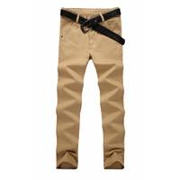2018 Casual Pants Mens Slim Business Pants Plus Size 28 38 Pants Straight Male Cotton High