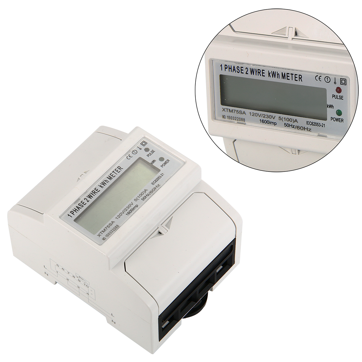 Din Rail Power Meter : A hz ac power meter so electricity kwh din rail