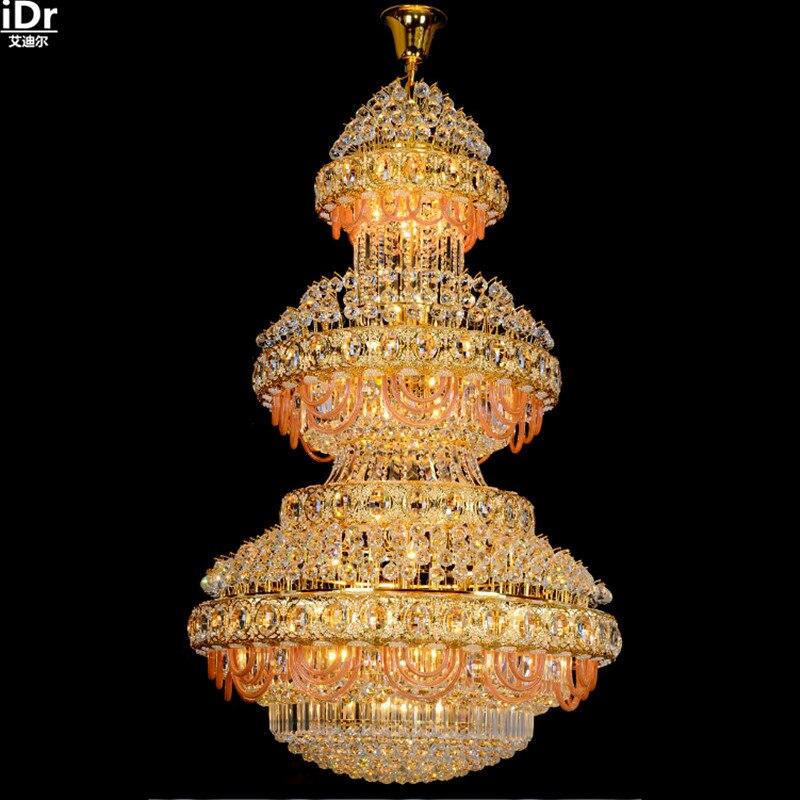 Xury Villa Hotel Lobby Chandelier Crystal Lamp Double