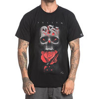 Sullen Neil Badge Black Hip Hop Skull Clothing Apparel Tops Printed Summer Style Tees Male Harajuku Top Fitness Brand Clothing