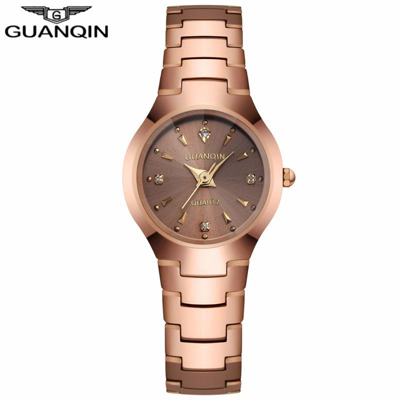 ФОТО GUANQIN GQ30018 Watch Women Brand Fashion Causal Tungsten Steel Watchband Relogio Waterproof Relogio Feminino Montre Femme