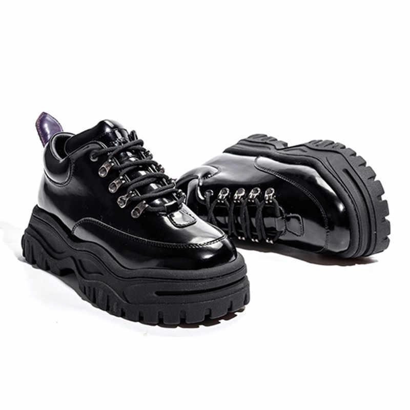 Feminino Casual Zapatillas Zapatos Mujer Jady Rosa Alpargatas Plataforma Tenis Negro Pisos Charol Creepers KclJTF1