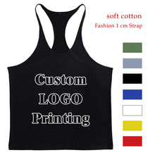 Custom Tank Top Men Singlet Muscle Shirt Fitness Sleeveless Vest Bodybuilding Clothing Stringer Workout Regata Musculation