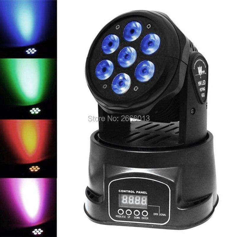 Niugul High Brightness 7x12W LED Moving Head Light RGBW Mini Wash Effect Stage Lights With Advanced