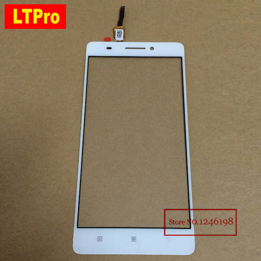 LTPro TOP Quality White black Front Glass Sensor Touch Screen Digitizer For Lenovo S8 A7600 A7600M A7600-M Phone Parts