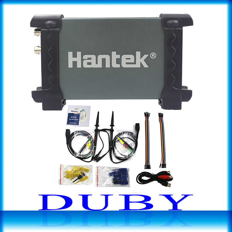 Hantek 6022BL PC USB Oscilloscopes Digital Portable 2Channels 20MHz Bandwidth Osciloscopio Portatil 16Channels Logic Analyzer digital usb oscilloscopes 20mhz hantek 6022bl shipping russia portablepc 16channels logic analyzer car detector 2channels