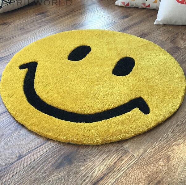 Round Smiley Face Rug Area Rug Ideas