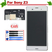 100% Tested for Sony Xperia Z3 LCD Display With Frame Touch Screen Digitizer for Sony Z3 D6633 D6603 lcd Assembly Replacement