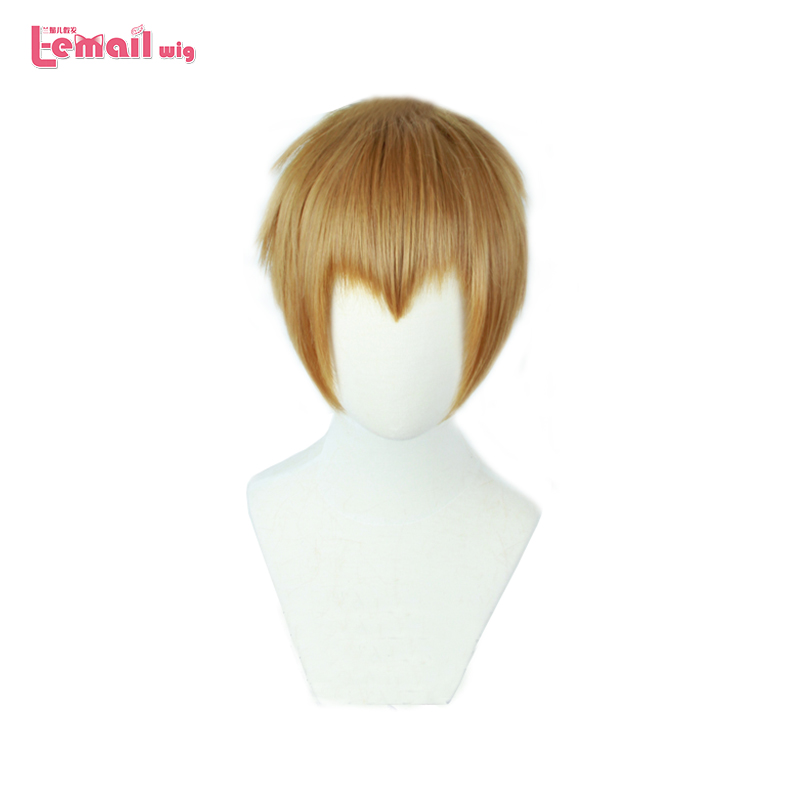 L-email Wig Brand New Mob Psycho 100 Arataka Reigen Cosplay Wigs Short Heat Resistant Synthetic Hair Perucas Cosplay Wig
