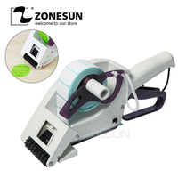 ZONESUN Semi automatic Round Bottle Adhesive Sticker Manual Packing Labeling Machine Handheld Price Tag Labeller Flat Labeller