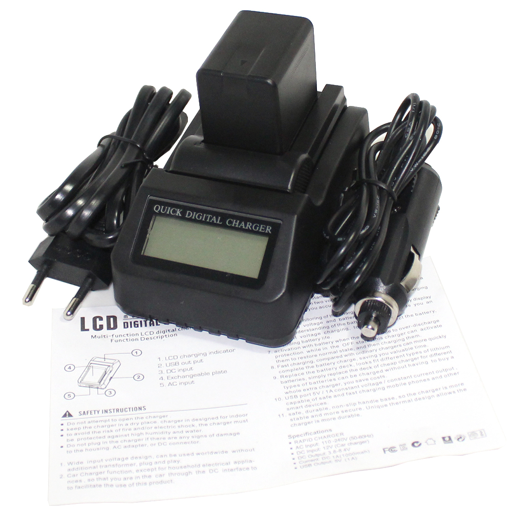 New 1Pcs VW-VBK360 VW VBK360 Rechargeable Battery + LCD Fast Charger For Panasonic HDC-HS80 HDC-SD40 HDC-TM40 SD60 SD80 SDX1 dste vw vbk360 battery