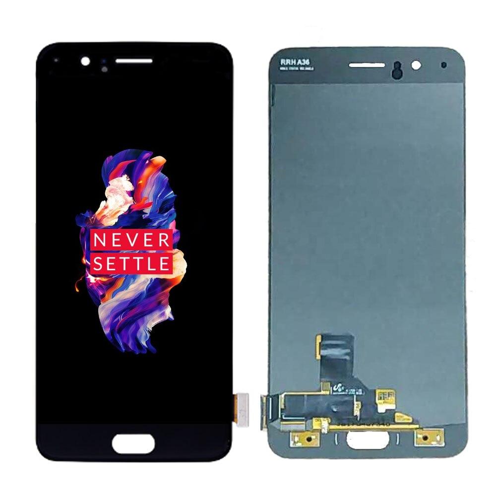 Origine Amoled LCD Pour Oneplus 5 A5000 écran lcd ensemble numériseur à écran tactile de remplacement un plus 5 LCD 5.5 pouces LCD