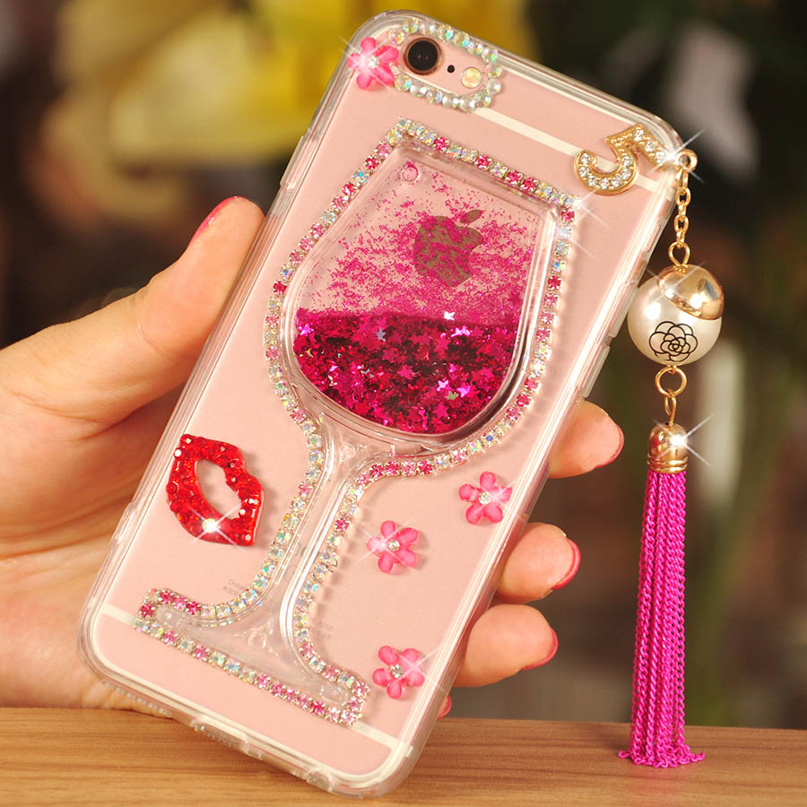 Phone Bags & Cases Cellphones & Telecommunications Painstaking Glitter Dynamic Sand Liquid Wine Cup Case For Samsung Galaxy J7 J5 J3 2016 2017 J730 J530 J720 Tassels Fashion Phone Case Cover