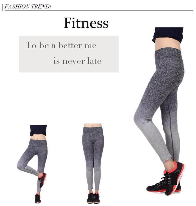a8f53b8c61402 ... Comeonlover Women Slim Sportleggins High Elastic Comfortable Workout  Pants Gradual Change Breathable Women's Fitness Leggings 13 ...