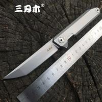 Sanrenmu 1161 Pocket Folding Knife 14C28N Stainless Steel Blade Flipper Ball Bearing Outdoor Camping Survival Tool EDC Knife