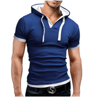 Men S T Shirt 2018 And Leisure Hooded Sling Short Sleeved Tees Male Camisa Masculina Slim