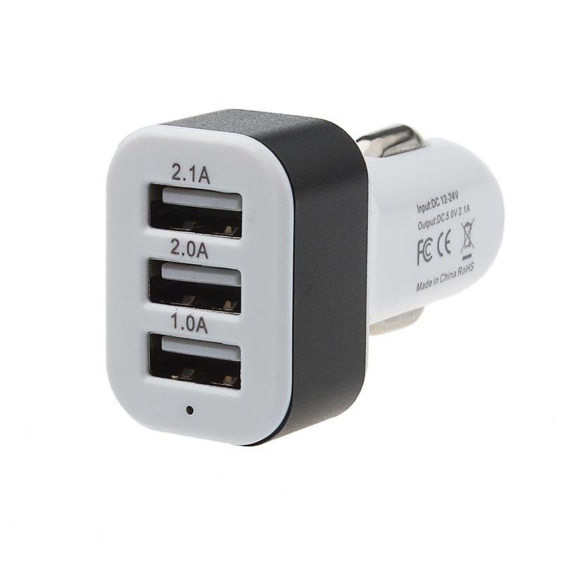 Car Charger 3 Port USB 12V 24V To 5V Charger Adapter