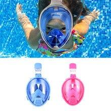 Kids Safe Plein Visage Masque Plongée En Apnée Plongée Sports Nautiques Plongée Sous-Marine Natation Tuba Anti Brouillard Plein visage Masque De Plongée Enfants