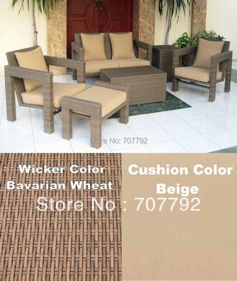 6pc all weather resin wicker patio furniture wicker balcony furniture setchina - Resin Wicker Patio Furniture