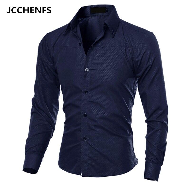 Jcchenfs 2018 Повседневное Для мужчин S Рубашки для мальчиков Модная рубашка в клетку с длинным рукавом для Для мужчин социальной платье рубашки Размеры: M-5XL